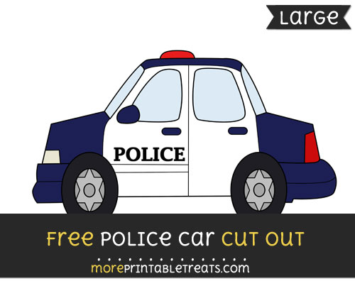 Free Police Car Cut Out - Large size printable