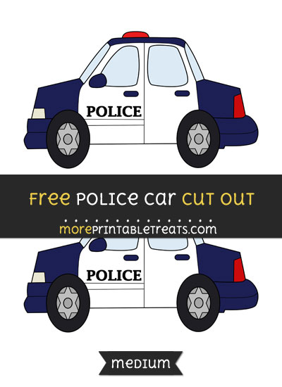Free Police Car Cut Out - Medium Size Printable