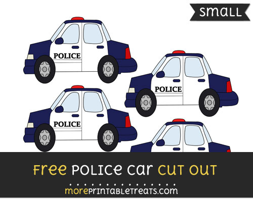 Free Police Car Cut Out - Small Size Printable