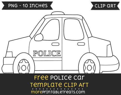 Free Police Car Template - Clipart