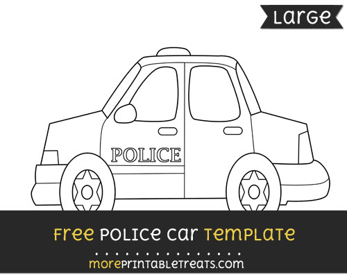 Free Police Car Template - Large