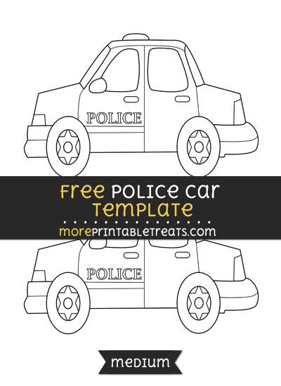 Free Police Car Template - Medium