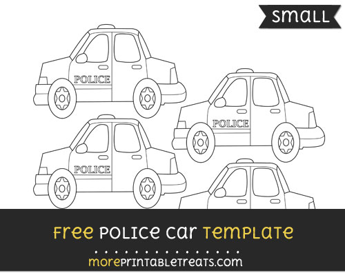 Free Police Car Template - Small