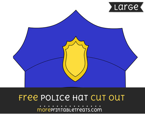 Free Police Hat Cut Out - Large size printable