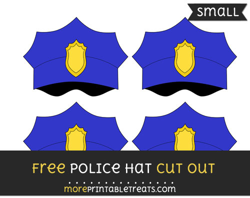 Free Police Hat Cut Out - Small Size Printable