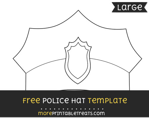 Free Police Hat Template - Large