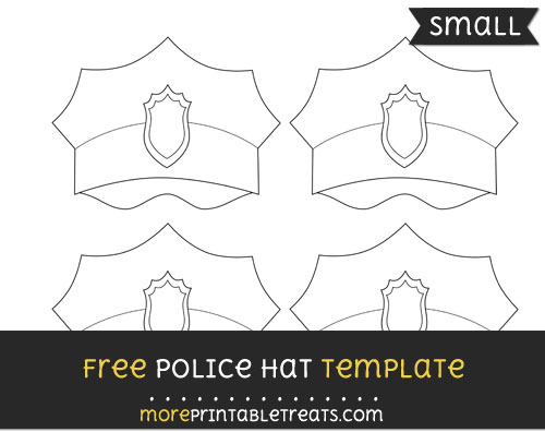 Free Police Hat Template - Small