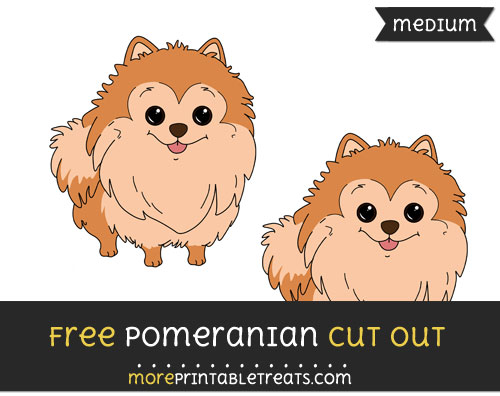 Free Pomeranian Cut Out - Medium Size Printable