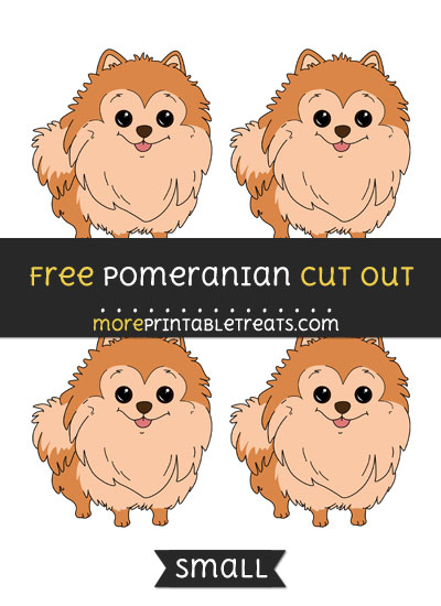Free Pomeranian Cut Out - Small Size Printable