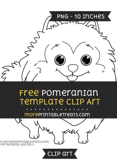 Free Pomeranian Template - Clipart