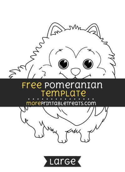 Free Pomeranian Template - Large