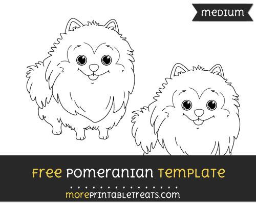 Free Pomeranian Template - Medium