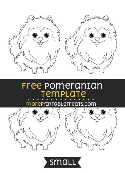Free Pomeranian Template - Small