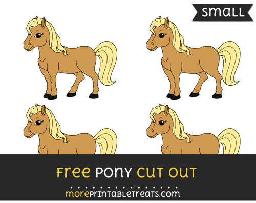 Free Pony Cut Out - Small Size Printable