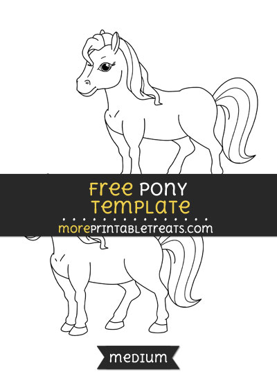 Free Pony Template - Medium