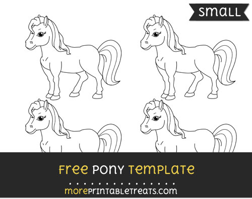 Free Pony Template - Small