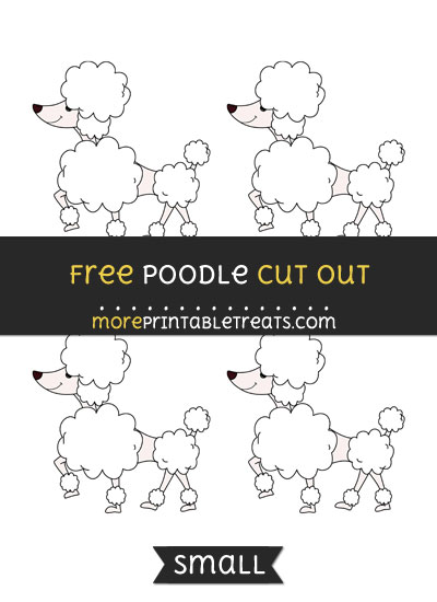 Free Poodle Cut Out - Small Size Printable