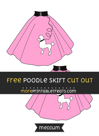 Free Poodle Skirt Cut Out - Medium Size Printable