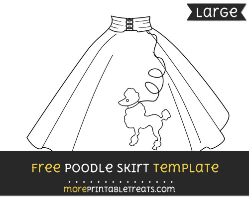 Free Poodle Skirt Template - Large