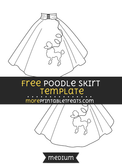 Free Poodle Skirt Template - Medium