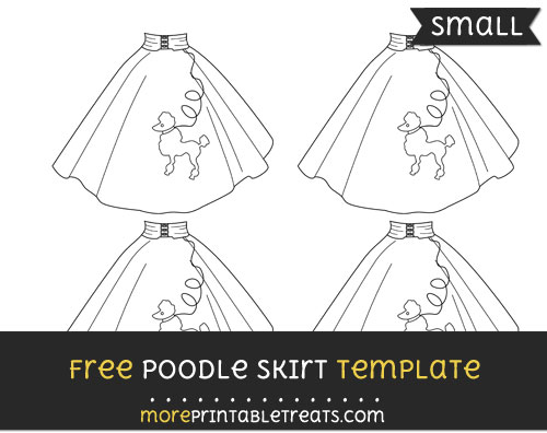 Free Poodle Skirt Template - Small