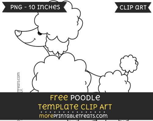 Free Poodle Template - Clipart