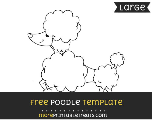 Free Poodle Template - Large