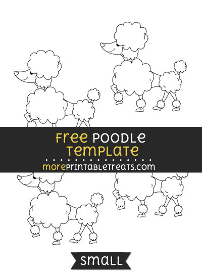 Free Poodle Template - Small