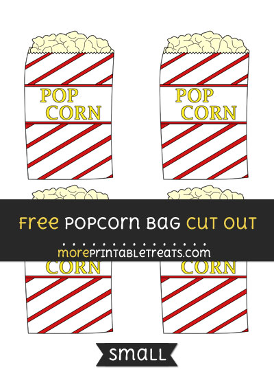 Free Popcorn Bag Cut Out - Small Size Printable