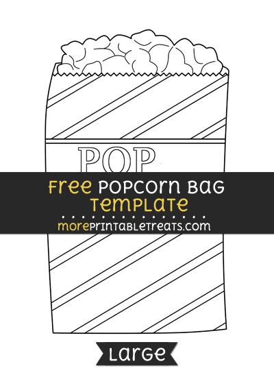 Free Popcorn Bag Template - Large