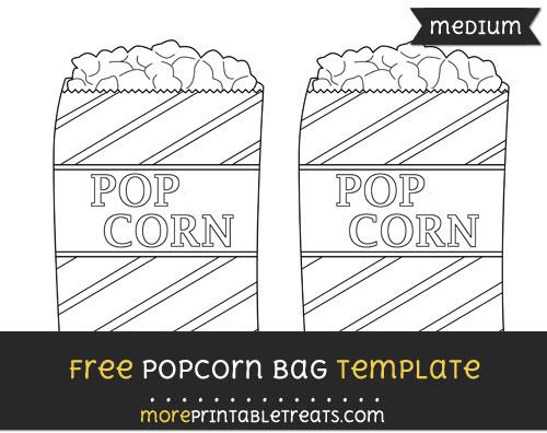 Free Popcorn Bag Template - Medium