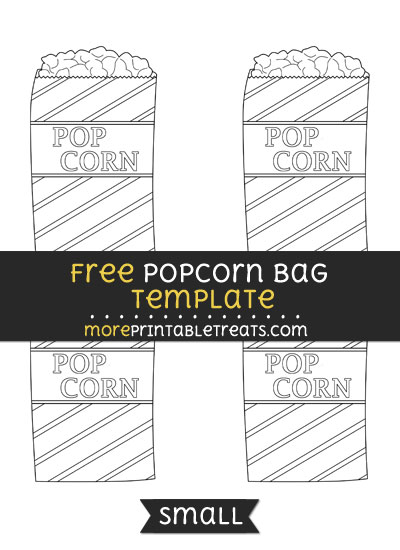 Free Popcorn Bag Template - Small