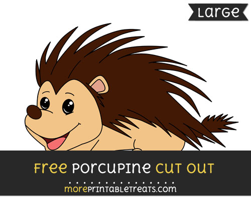 Free Porcupine Cut Out - Large size printable