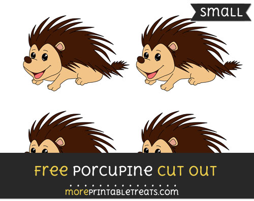 Free Porcupine Cut Out - Small Size Printable