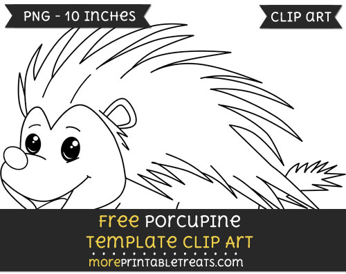 Free Porcupine Template - Clipart