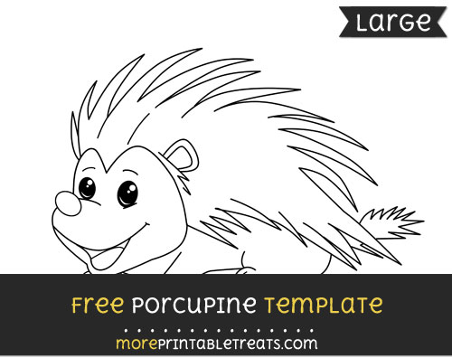 Free Porcupine Template - Large
