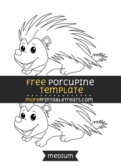 Free Porcupine Template - Medium