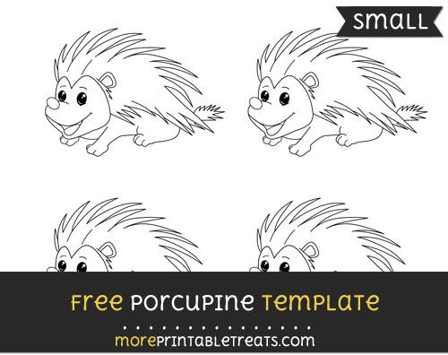 Free Porcupine Template - Small