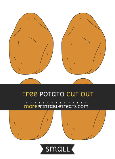 Free Potato Cut Out - Small Size Printable