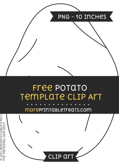 Free Potato Template - Clipart