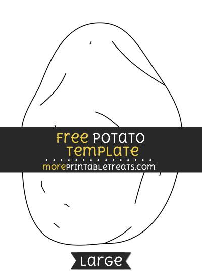 Free Potato Template - Large