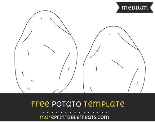 Free Potato Template - Medium