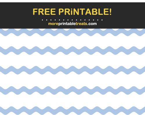 Free Printable Powder Blue Ric Rac Wavy Ribbon Borders