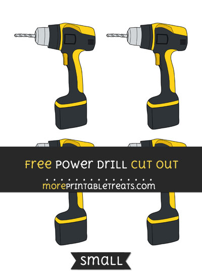 Free Power Drill Cut Out - Small Size Printable