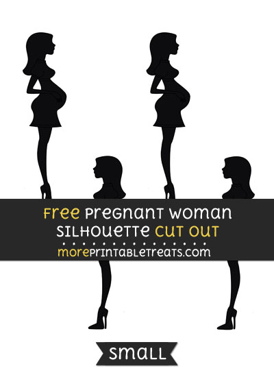 Free Pregnant Woman Silhouette Cut Out - Small Size Printable