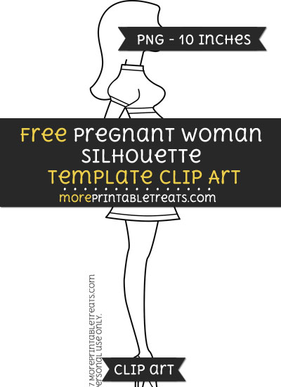 Free Pregnant Woman Silhouette Template - Clipart