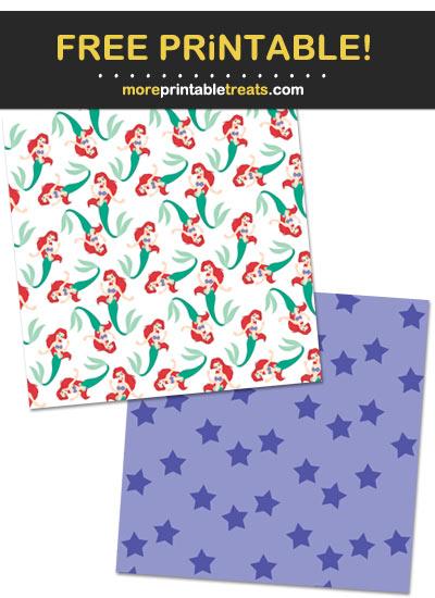 Free Printable Princess Ariel Mermaid Backgrounds