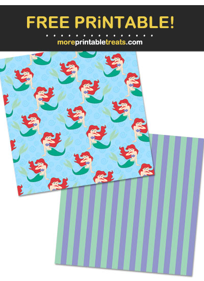 Free Printable Princess Ariel Mermaid Pattern Paper