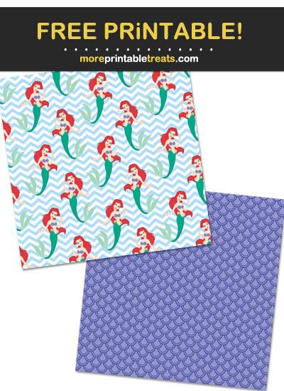 Free Printable Princess Ariel Wrapping Paper