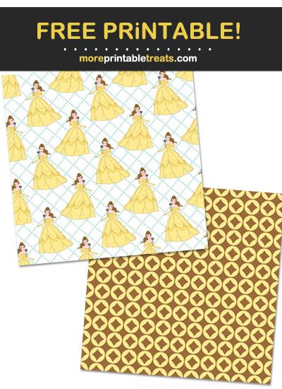 Free Printable Princess Belle Theme Paper